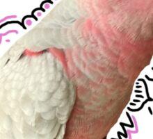 Pink bird  australian galah  Sticker