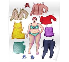curvy dress-up doll Poster