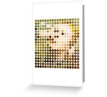 David Bowie, Hunky Dory, Benday Dots Greeting Card