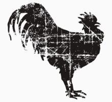 Big Black Rooster (Vintage) Kids Tee