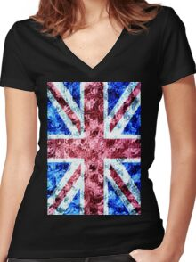 The Union Jack Women's Fitted V-Neck T-Shirt