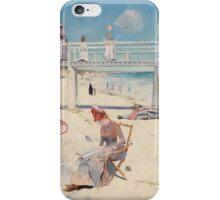 Charles Conder - A holiday at Mentone 1888 iPhone Case/Skin