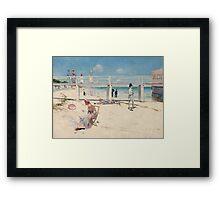 Charles Conder - A holiday at Mentone 1888 Australian Seascape Marine Framed Print