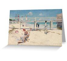 Charles Conder - A holiday at Mentone 1888 Australian Seascape Marine Greeting Card