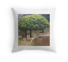 A tiny abandoned tree house. Throw Pillow