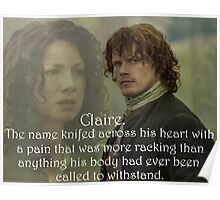 Outlander/Quote from The Scottish Prisoner. Poster