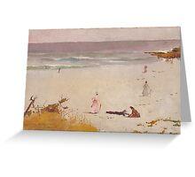 Charles Conder  - Bronte Beach 1888 Seascape Marine  Australian Greeting Card