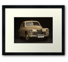 retro car on a black background Framed Print