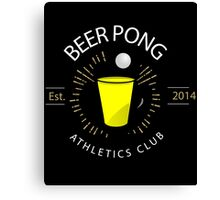 Beer Pong Athletics Club T Shirt Canvas Print