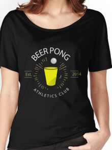 Beer Pong Athletics Club T Shirt Women's Relaxed Fit T-Shirt