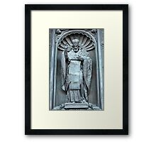 Saint Nicholas the bronze sculpture Framed Print