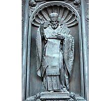 Saint Nicholas the bronze sculpture Photographic Print