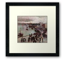 Charles Conder  - Departure of the Orient - Circular Quay , Seascape Marine Framed Print