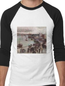 Charles Conder  - Departure of the Orient - Circular Quay , Seascape Marine Men's Baseball ¾ T-Shirt