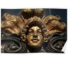mascaron golden head  Poster