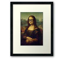 Hipster Glasses Mona Lisa - Leonardo da Vinci Framed Print