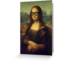 Hipster Glasses Mona Lisa - Leonardo da Vinci Greeting Card