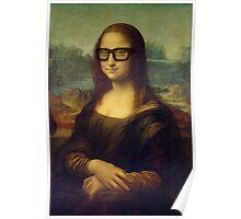 Hipster Glasses Mona Lisa - Leonardo da Vinci Poster