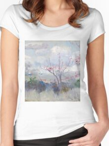 Charles Conder  - Herrick s Blossoms , Rustic  Australian  Provance  Women's Fitted Scoop T-Shirt