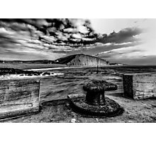 Harbour Wall at West Bay Photographic Print