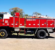 Mirboo North Fire Truck - Gippsland Australia by Bev Pascoe