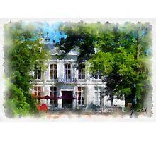 Middleheim Castle - afternoon tea terrace - Antwerp Photographic Print