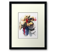 Ryu vs Sagat Framed Print