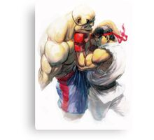 Ryu vs Sagat Canvas Print