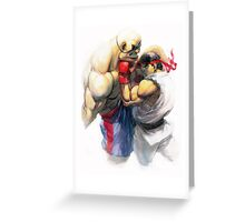 Ryu vs Sagat Greeting Card