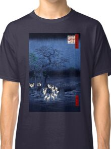 Hiroshige New Year's Eve Foxfires at the Changing Tree, Oji Classic T-Shirt