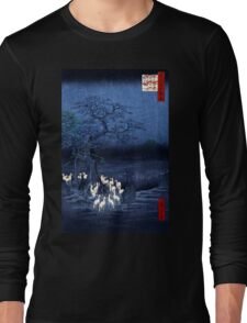 Hiroshige New Year's Eve Foxfires at the Changing Tree, Oji Long Sleeve T-Shirt