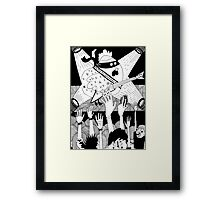 I'm a chicken on the stage Framed Print