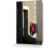 Wash day wall. Greeting Card