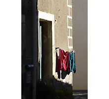 Wash day wall. Photographic Print