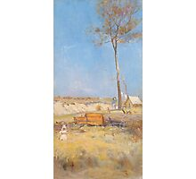Charles Conder  - Under a southern sun Timber splitter s camp  Landscape Photographic Print