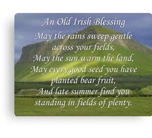 Old Irish Blessing #5 Canvas Print
