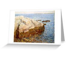 Childe Hassam - Cliff Rock - Appledore ,  American  Impressionism Seascape Marine Greeting Card