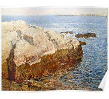 Childe Hassam - Cliff Rock - Appledore 1903 Poster