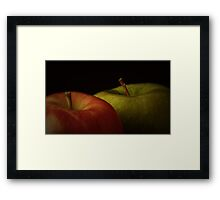 Two Apples Framed Print