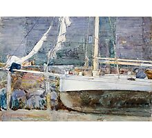 Childe Hassam - Drydock, Gloucester  American  Impressionism Seascape Marine Photographic Print