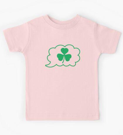 SHAMROCK irish talk speech bubble Kids Tee