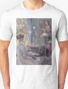 Childe Hassam - Improvisation American Impressionism Woman Portrait Fashion Musician Birthday Unisex T-Shirt
