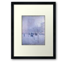 Childe Hassam - Late Afternoon, New York, Winter American Impressionism Landscape Framed Print