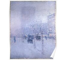 Childe Hassam - Late Afternoon, New York, Winter American Impressionism Landscape Poster