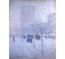 Childe Hassam - Late Afternoon, New York, Winter American Impressionism Landscape Photographic Print