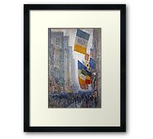 Childe Hassam - Lincoln s Birthday Flags 1918 American Impressionism Landscape Framed Print