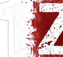 H1Z1: Bloody Z Title - White Ink Sticker