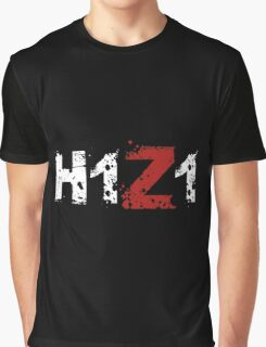 H1Z1: Title - White Ink Graphic T-Shirt