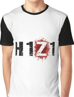 H1Z1: Bloody Z Title - Black Ink Graphic T-Shirt