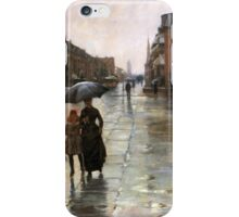 Childe Hassam - Rainy Day, Boston American Impressionism Landscape Rain iPhone Case/Skin